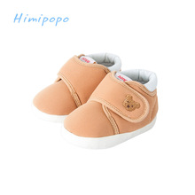 HIMIPOPO Lovely Baby Toddler Shoes First Walkers Round Toe Flats Soft Slippers Shoes Bear Infant Baby Footwear