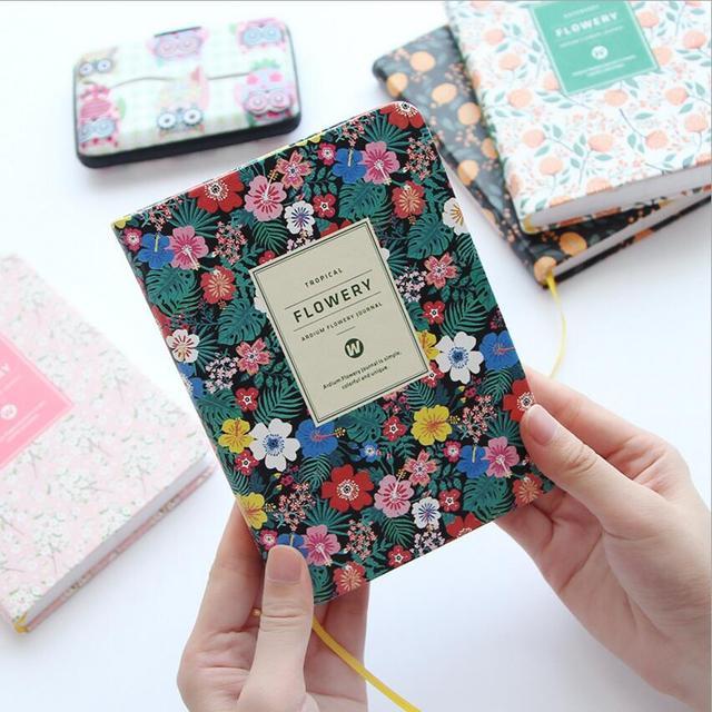 Korean Cute Floral Vintage Flower Schedule Book Diary Weekly Monthly Planner Organizer Notebook Kawaii Stationery Agenda 2017