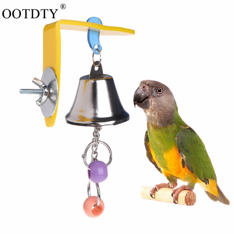 12.5*7cm Metalpet Bird Bell Toys Chew Parrot Ringer Hanging Swing Cage Toy For Cockatiel Parakeet Pet Bird Supplies Activating Blood Circulation And Strengthening Sinews And Bones Home & Garden Pet Products