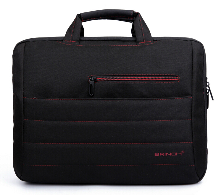 Brinch 15 15.6 17 17.3 Inch Solid Nylon Laptop Notebook Tablet Bags Case Messenger Shoulder Bag for Men Women