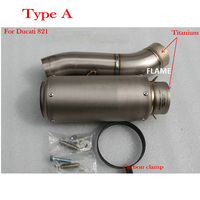 MOKALI Titanium Motorcycle Exhaust Muffler Ponteiras De Escape For Ducati 821 For Ducati Monster 821 1200