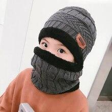 2018 caliente niño 2 piezas de invierno pasamontañas sombrero de punto  sombrero y la bufanda para 3-10 años Niña Niño sombreros . fd9c64fc575