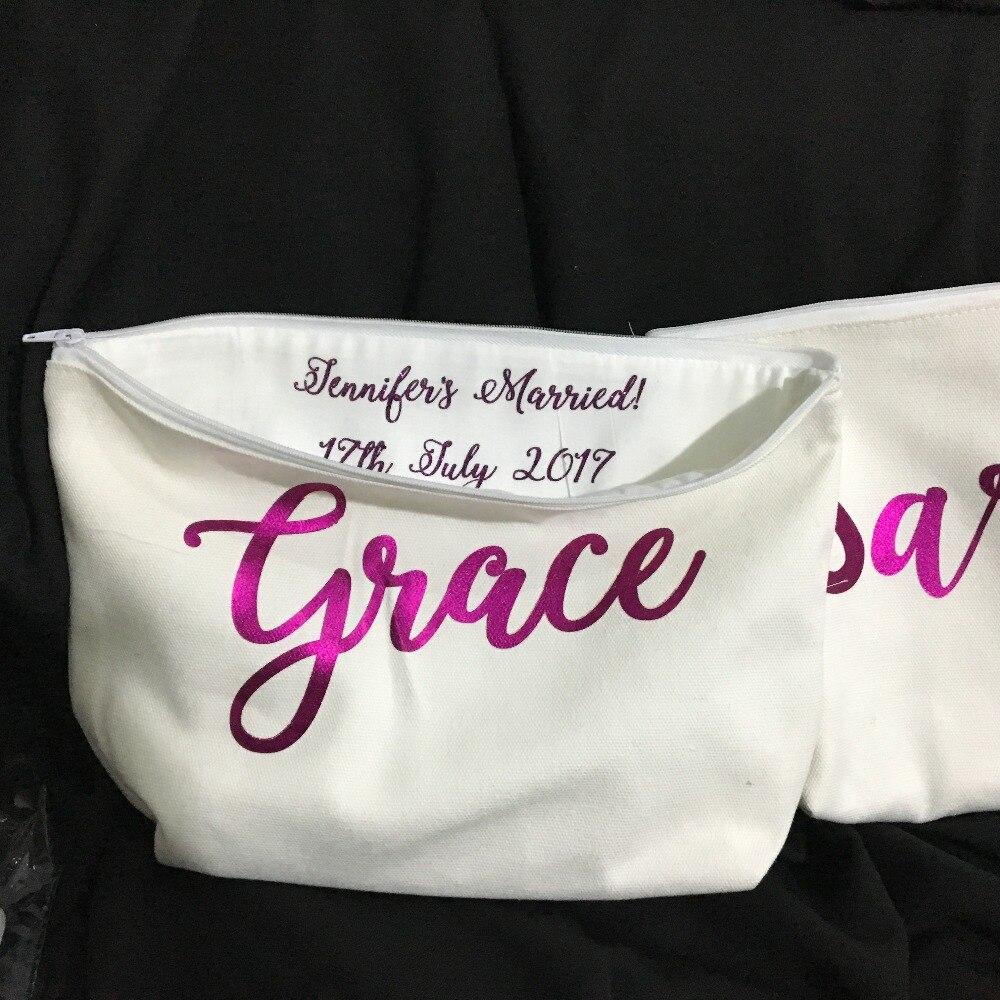 Make Wedding Gift: Personalised Names Bridesmaid Wedding Gift Make Up