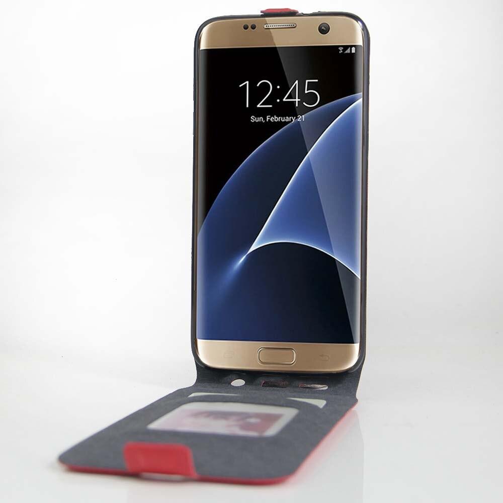 Nuevo teléfono móvil de cuero edgeg9350 5.5 ''luxury vertical flip case para sam