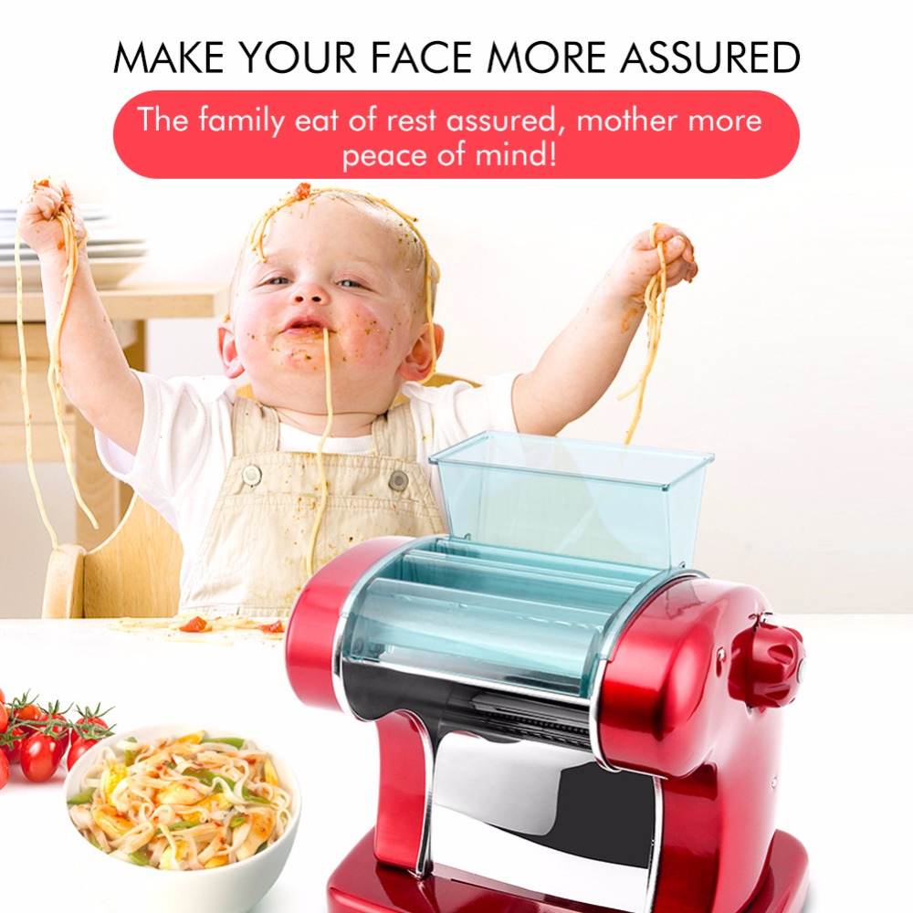 Stainless Steel Pressing Machine Household Electric Automatic Multi function Small Noodle Machine Dumplings Dough Kneading 220V