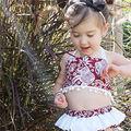 Summer Baby Girls Clothes Sleeveless Halter Sleeveless Red Elephant Tassels Tops+Shorts Pants Baby Cotton Clothes 2 pcs Set