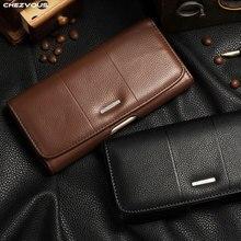Clipe de cinto coldre bolsa de couro caso para o iphone x xs max xr universal saco do telefone móvel para o iphone 7 8 6 4S 5 acessórios de luxo