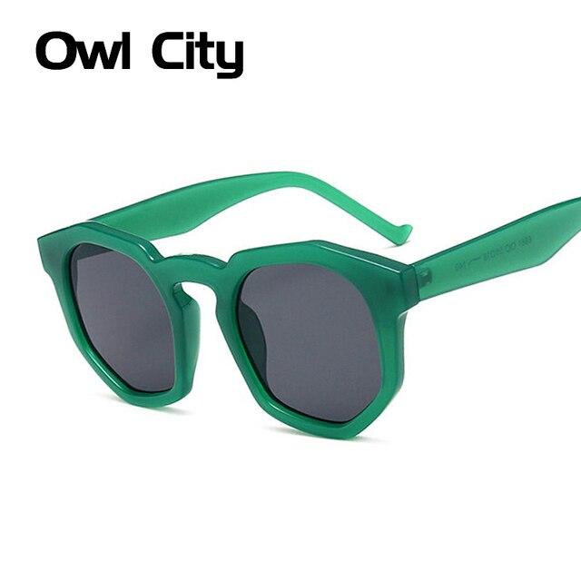 Escudo clássico Quadro Mulheres Óculos de Sol Espelho Revestimento de Lente  Verde Clear Frame Marca f4adec4ba0
