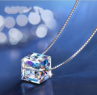 Best Quality 100 925 Sterling Silver Original Crystals From SWAROVSKI Pendant Necklaces Women Handmade Maxi Collares