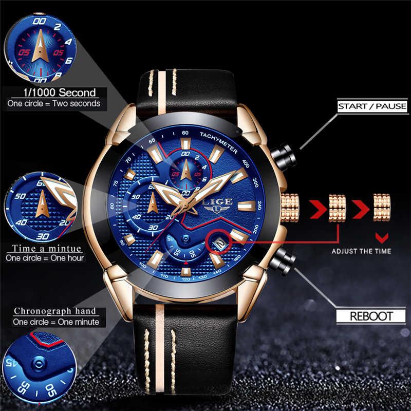 Montre à Quartz analogique avec Date, aiguilles lumineuses, bracelet en cuir étanche pour homme
