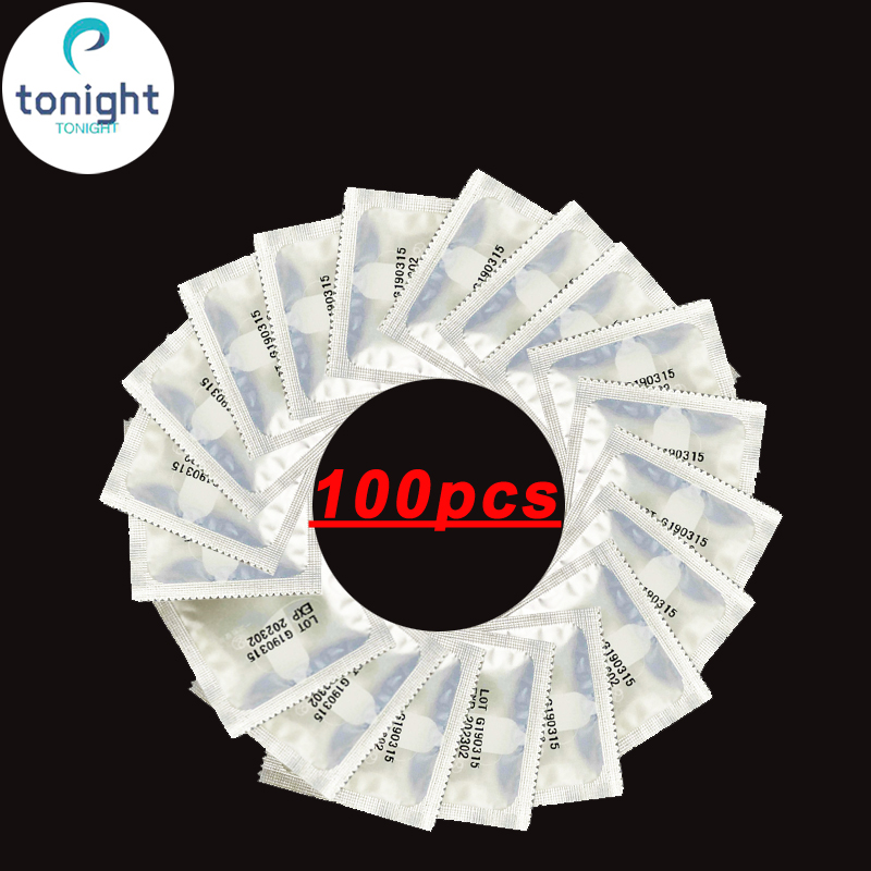 100 Pcs Thin Condoms For Men Penis Extender Cock Ring Adult Toys For Men Safety Penes