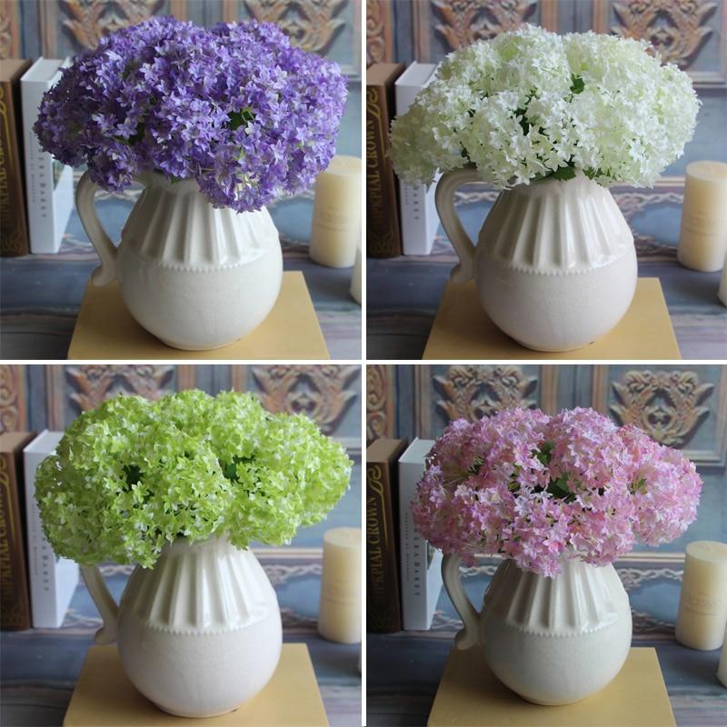 European Silk Flower Rose Artificial Hydrangea Wedding