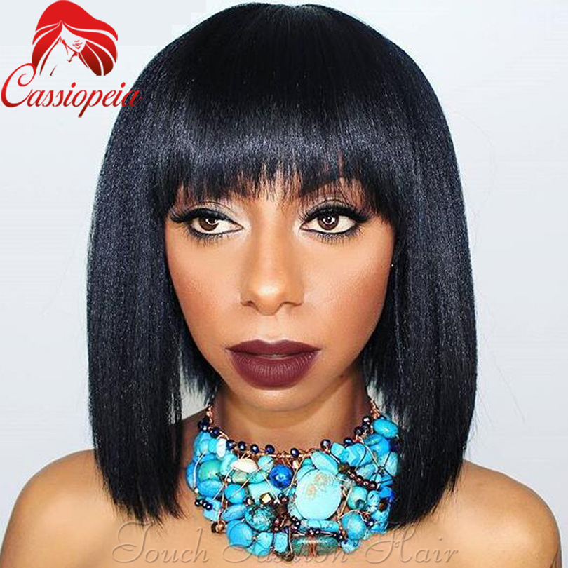 Yaki Full Lace Wigs With Bangs 10