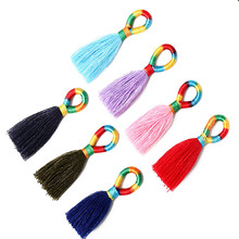 10PCS Colorful Ring Tassel for Fringe DIY Home Curtain Garment Sewing Accessories Key Trim Craft  Decoration
