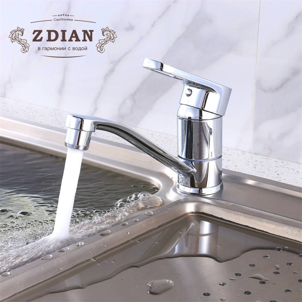US $47.84 |New Kitchen Faucet Sink water Faucet Chrome Brass Mixer crane  360 Degree Rotating Deck Mounted Cold and Hot Kitchen Mixer Taps-in Kitchen  ...