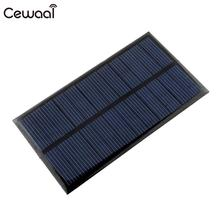 Cewaal солнечная панель 6 в 1 Вт Портативный Мини DIY модуль панели системы для батареи сотового телефона зарядные устройства портативный солнечный элемент