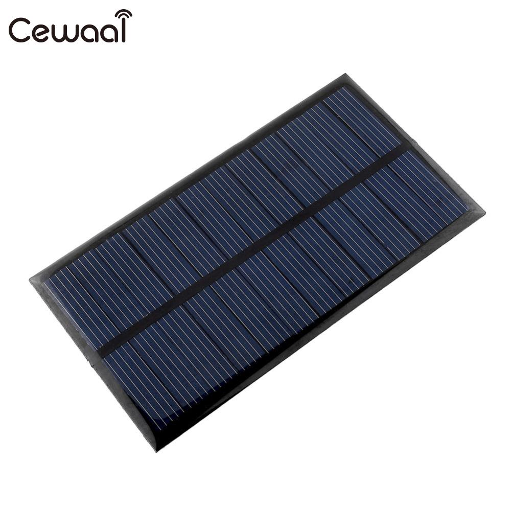 Cewaal Solar Panel 6V 1W  Portable Mini DIY Module Panel System For Battery Cell Phone Chargers Portable Solar Cell