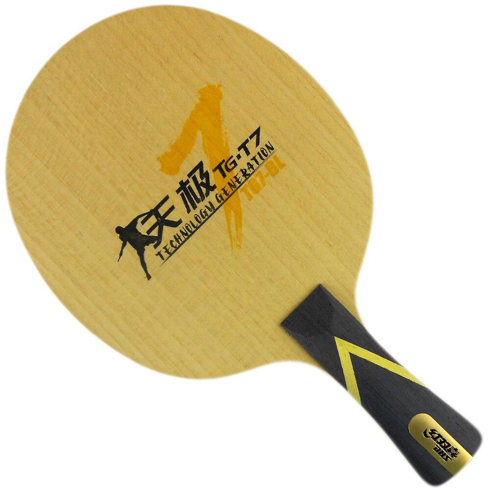 DHS TG7-BL Table Tennis / PingPong Blade (Shakehand-FL) dhs tg7 cp tg cp 7 tg cp 7 attack loop off table tennis blade for pingpong racket