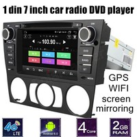 1 Din Car Video Player 7 Inch DVD GPS WiFi Radio Bluetooth Quad Core For B
