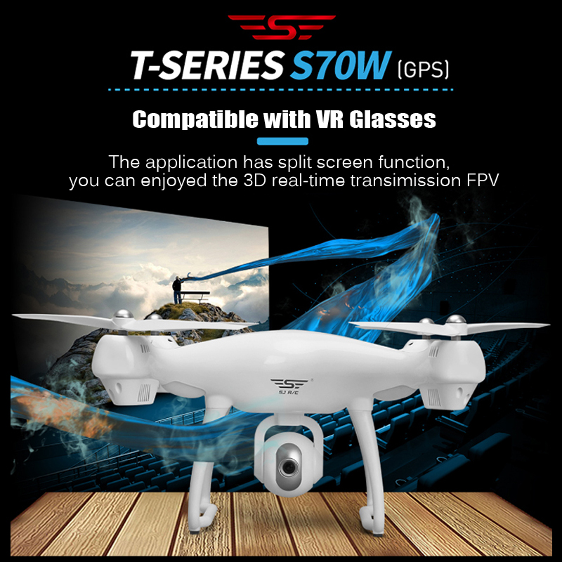 S70W Follow Me WIFI FPV RC Drone Helicopter 500M Distance 1080P HD Camera GPS Position Quadcopter Compatible With VR Glasses