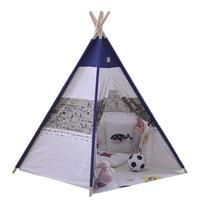高品質コットンキャンバス子供テント5木製極インドプレイteepees子供ティピーティーピープレイハウス赤ちゃんルーム