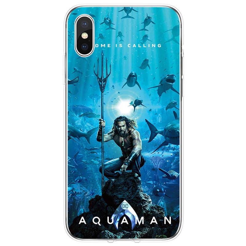 DC комиксы, фильм Aquaman Чехол Мягкий Силиконовый ТПУ чехол для iPhone 5 5C 5S SE 6 6 plus 7 7 plus 8 8 plus X XS XR XS Max