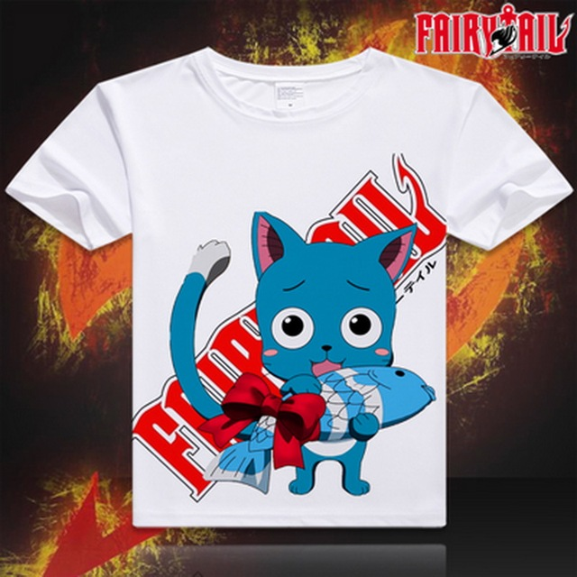 Fairy Tail Anime Digital Print Casual Fashion Unisex T-shirt