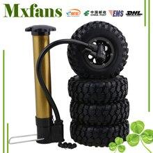 Mxfans 4 x 1 9 108mm Gravel Pattern Inflatable Rubber Tires 8 Hole Plastic Wheel Rim