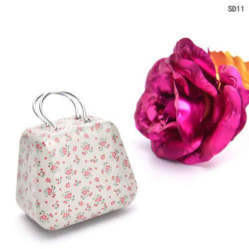 Yeni çanta çanta mini depolama küçük para küpe düğme şeker takı teneke kutular hediye saklama kutuları metal kutular ev dekor