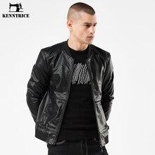 KENNTRICE Nouvelle Arrivée de Printemps Hommes Slim Vestes Rock Mâle Faux  Cuir Veste Moto Haute Qualité 52cdb87e52b