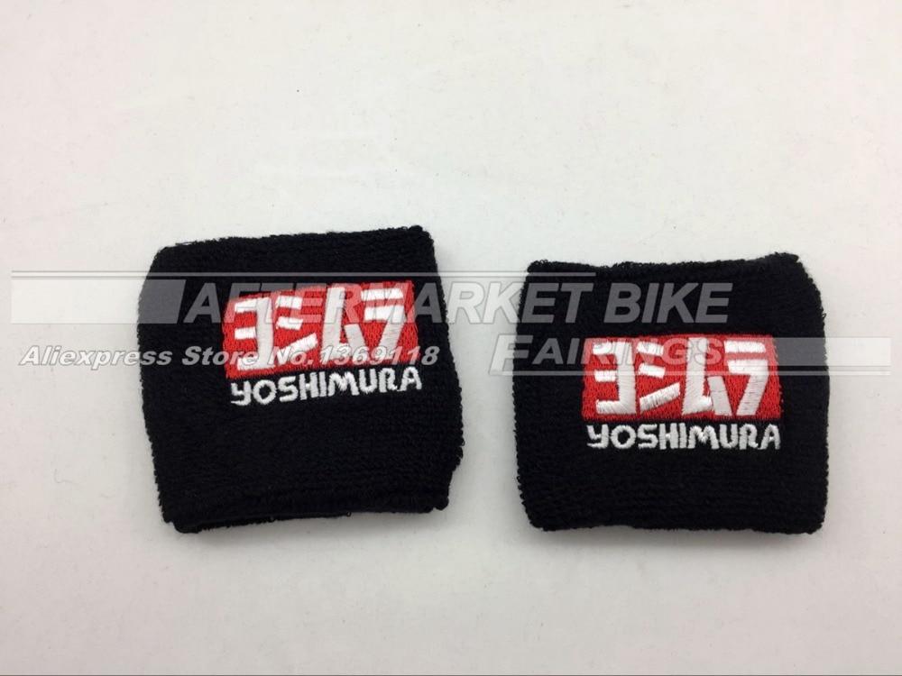 YOSHIMURA Logo Universal Motorcycle Brake Reservoir Sock Fluid Oil Cup Cover Sock Sleeve For Honda Yamaha Suzuki Kawasaki motorcycle brake fluid reservoir clutch tank oil fluid cup for honda yamaha kawasaki z750 z800 z1000 suzuki ducati xt660 wr250