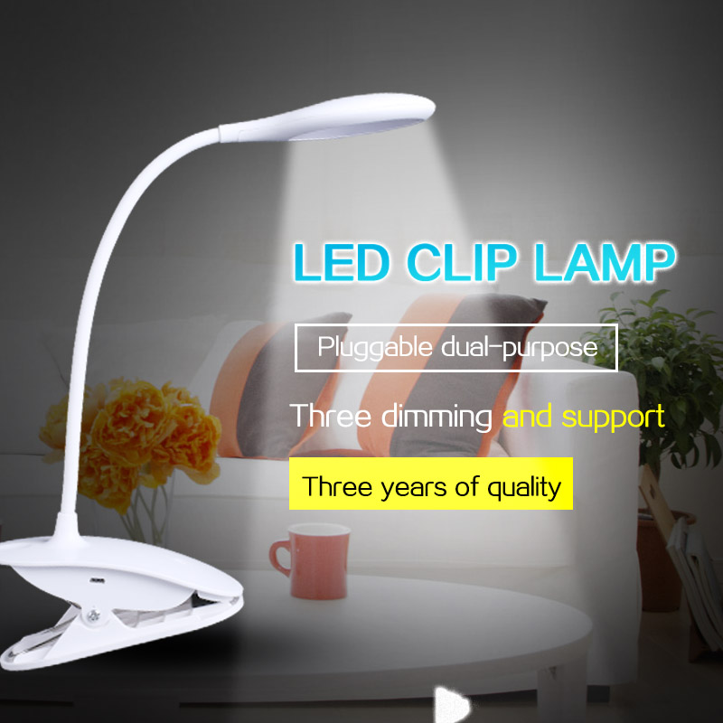 LED Desk lamp Eye Protect Clamp Clip Table Lamp Book Read Light with clamp touch control and stepless dimming usb Rechargeable lediary utralthin dimming led desk lamp rechargeable usb 5v eye protection table lamps touch control student night light modern