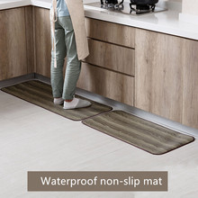 Imitation wood grain waterproof Entry mat Kitchen Antifouling door bathroom carpet EVA material non-slip rug