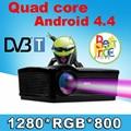 С DVB-T TV 5500 люмен Android 4.4 1080 P wi-fi светодиодный проектор full hd 3d домашний кинотеатр lcd видео proyector projektor Бесплатная подарок