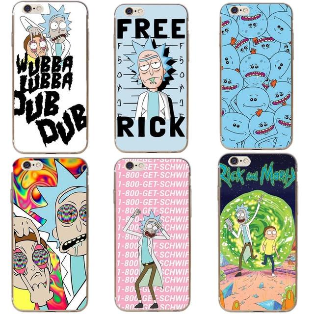 iphone 8 coque rick et morty