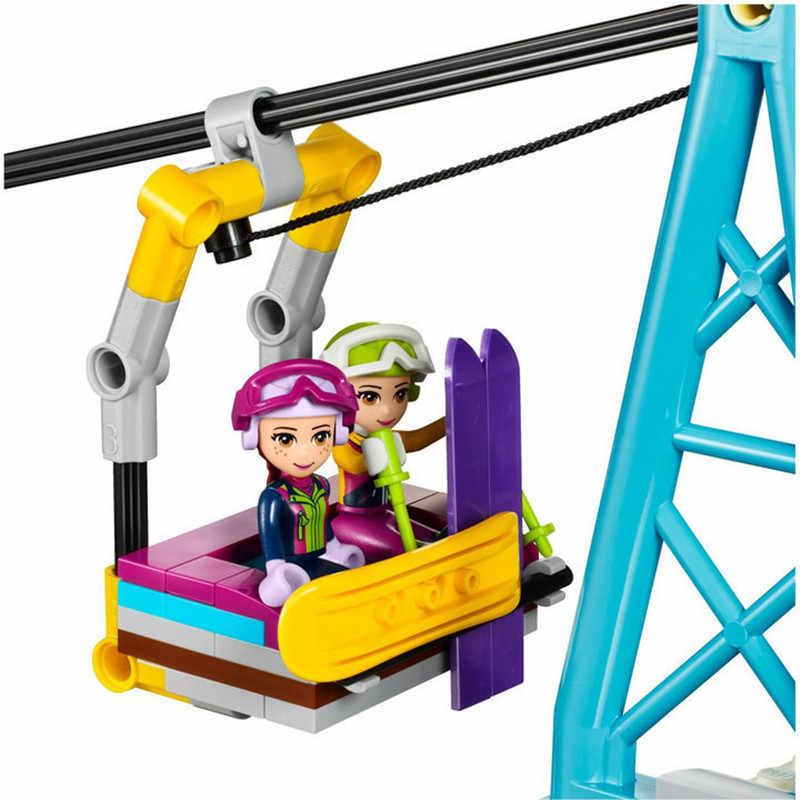 632 pcs Legoings Salju Ski Resort Angkat Teman-teman Untuk Gadis Blok Bangunan Model Kit Mainan Gadis Hadiah Ulang Tahun Natal