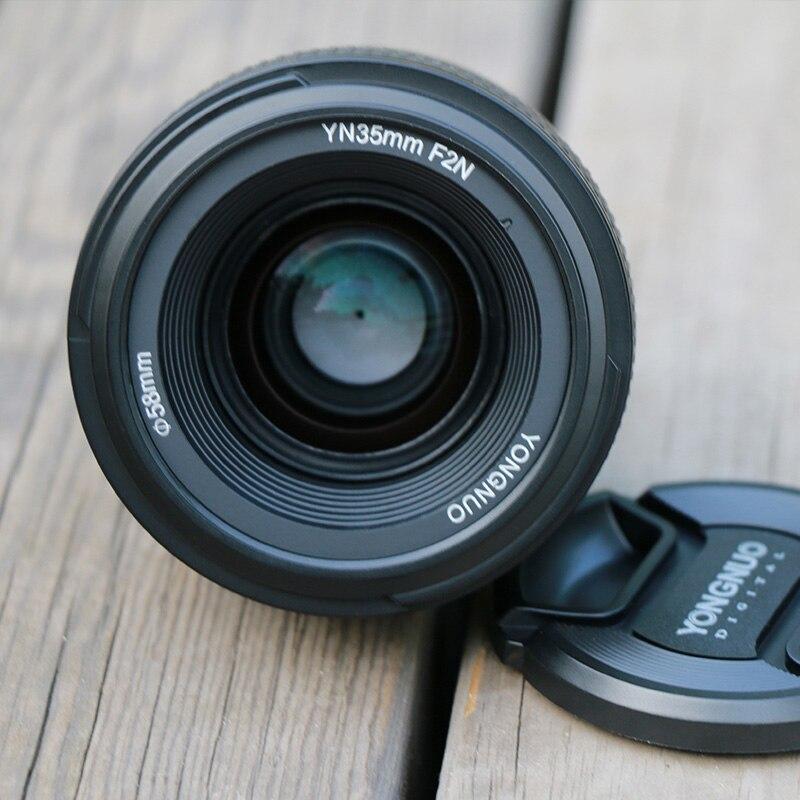 YONGNUO YN 35mm F2 objectif de caméra pour Nikon Canon EOS YN35MM objectifs AF MF objectif grand Angle pour 600D 60D 5DII 5D 500D 400D 650D 6 - 2