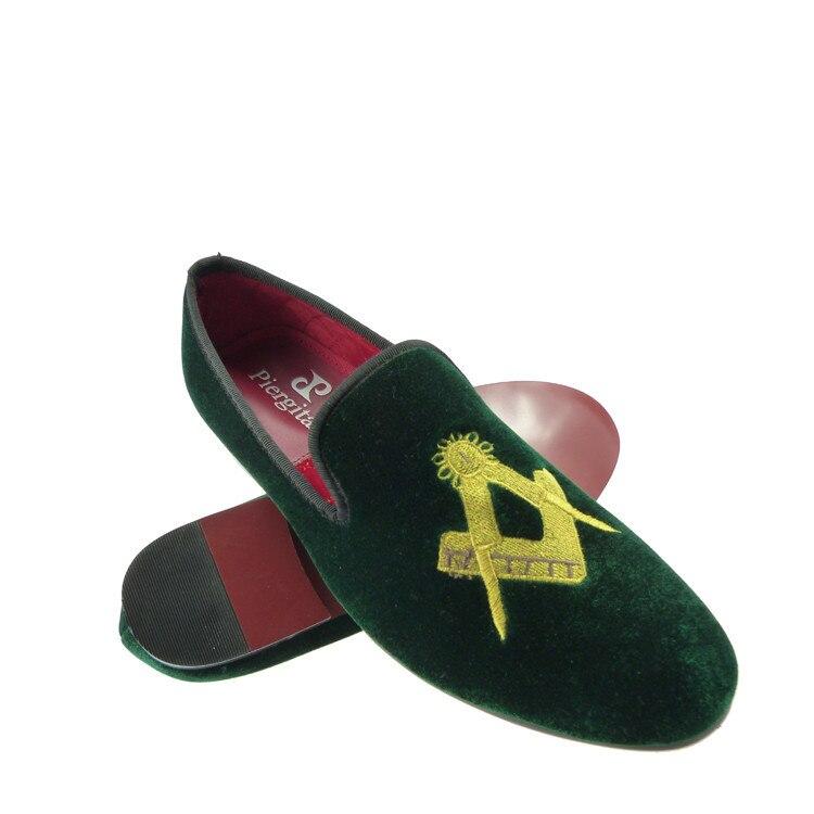 men shoes green velvet loafers slippers US size 6-13
