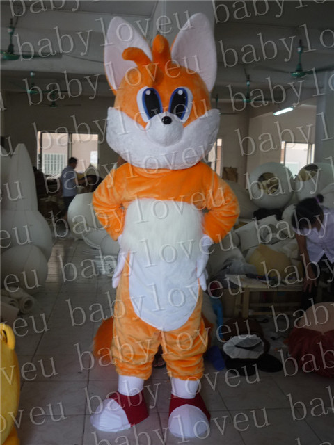 Miles Tails Fox Mascot Costume Custum Color Costumes Party Dinosaurs Fancy Dress Christmas Gift