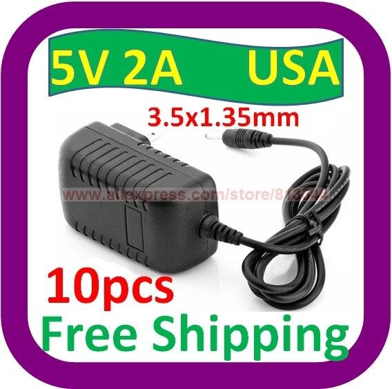 10 Stks Gratis Verzending Nieuwe 5 V 2a Ac Power Adapter Oplader Voor Klm C704 C705 Founder A918 Tablet Pc
