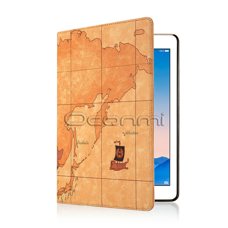 World Map Leather Case For Apple Ipad Air 2 With Stand Function Credit Card Slots Wallet Cover For Ipad Air2 Bag