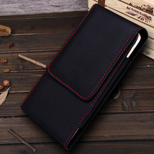 Universal Smartphone Bag Belt Clip Pouch Case For moto one vision Capa Etui Belt Clip Holster Leather for moto one vision Cover(China)