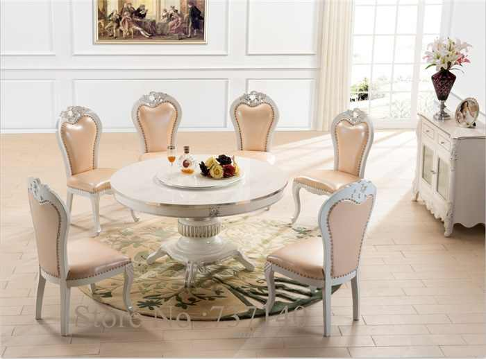 round dining table dining chair wood table round retro table white furniture  luxury dining room set buy furniture in china
