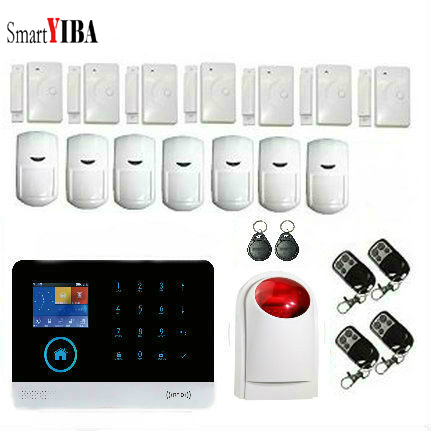 SmartYIBA Android IOS APP Control Wireless Home Security GSM Alarm System Wireless Flash Strobe Siren Metal remote controller автомобильная рация megajet mj 350 turbo