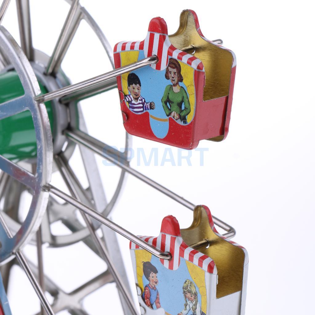 Vintage Musical Ferris Wheel Model Wind Up Clockwork Tin Toys Collection Gifts Tin Toys Tin Tin Toystoys Tin Aliexpress