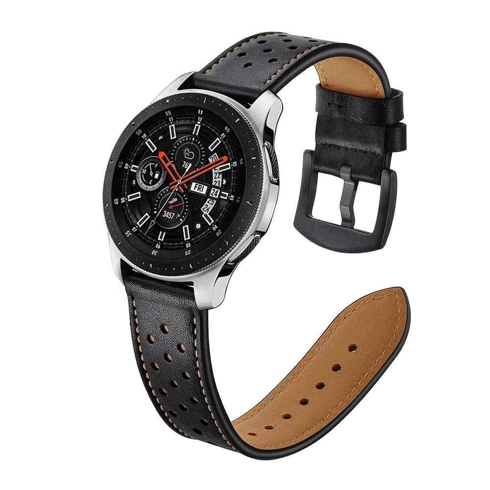 20mm 22 milímetros Pulseira De Couro Para Samsung Galaxy Relógio 46 Engrenagem dois milímetros S3 S2 Liberação Rápida Assista Strap Para samsung Galaxy Relógio 42mm