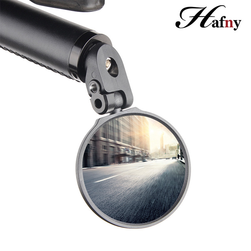Hafny 2019 Bike Handlebar End Mirrors Cycling Back Review Mirror For MTB Road Riding Racing Steel Mirror Bicycle Accessories