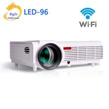 Pro LED96 wifi led proyector 3D android Proyector wifi proyector de cine en casa hd BT96 proyector 1080 p HDMI de Vídeo de Múltiples pantalla