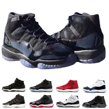 New AJ 11 Prom Night Cap and Gown Gym Red Space Jam Win like 96 11s Men  Basketball Shoes Athletic Sports Sneakers size 5.5-13 e7e0139ed