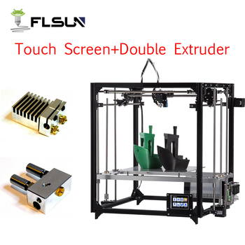 Flsun 3D impresora de alta precisión gran tamaño de impresión 260*260*350mm 3d-kit de impresora cama caliente un rollo filamento de tarjeta Sd